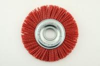 Щетка дисковая из нейлона D=125х22,2 С красный абразив