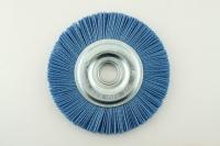 Щетка дисковая из нейлона D=150х22,2 Z цирконий голубой
