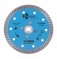 Диск алмазный TURBO с фланцем hot press 125x14/10мм