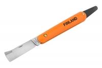 Нож прививочный с язычком для отгиба коры с прямым лезвием из нерж. стали Finland