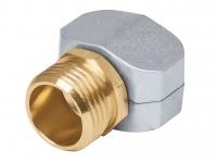 Коннектор соединительный 5/8-3/4, метал, наружная резьба 17298