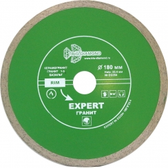 Диск алмазный сплошной Эксперт Гранит hot press 180x8/25,4-1.85мм