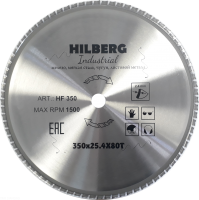 Диск пильный Hilberg Indastrial Метал 350x80Т*25,4мм