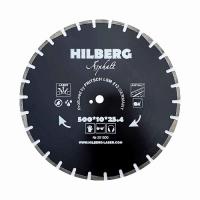 Диск алмазный отрезной Асфальт 500x11*25,4/12мм Hilberg Hard Materials Лазер
