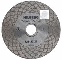 Диск алмазный сплошной ультратонкий Hilberg Master Ceramic 125x25x22,23мм