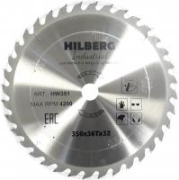Диск пильный Hilberg Industrial Дерево 350x36Т*32мм