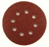 Круг абразивный на липучке 125мм с 8 отв. P180