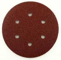 Круг абразивный на липучке 150мм с 6 отв. P1000