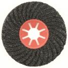 Круг фибровый волнистый 125x22мм карбид кремния черный Semtul P100