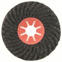 Круг фибровый волнистый 125x22мм карбид кремния черный Semtul P80