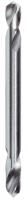 Сверло по металлу двустороннее HSS-G DIN 1412 C 2,5х43x10,0мм