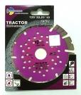 Диск алмазный отрезной TURBO SEGMENT Tractor 125x12*22.23мм
