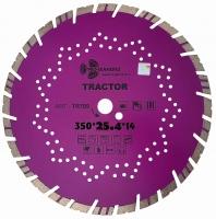 Диск алмазный отрезной TURBO SEGMENT Tractor 350x14*25.4мм