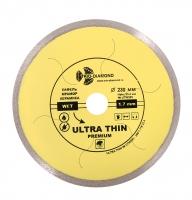 Диск алмазный сплошной ультратонкий hot press 230x25,4мм (переходное кольцо на 22,23)