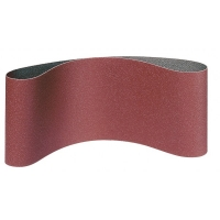 Шлифовальная шкурка для ленточных машин 75/457мм ( на тканевой основе) (1уп-3шт) Р 80
